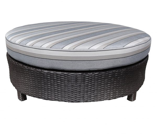 Creative Flight Wicker Round Ottoman Patio Furniture At Sun Country Medium
