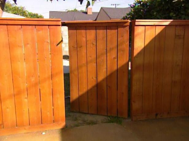creative how to building a wooden gatehgtv