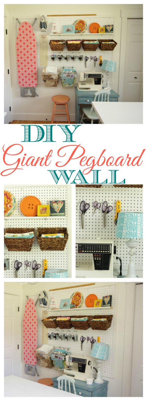 Creative How To Install A Diy Giant Pegboard Wall Craft Room Medium