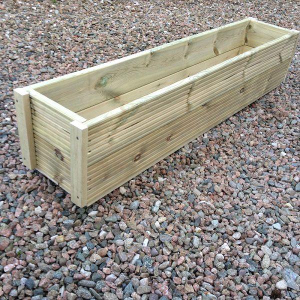 Creative Large 1 Metre Wooden Garden Planter Box Trough Herb Medium