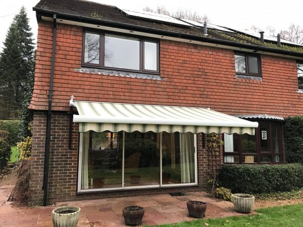 Creative Large Electric Awning Fitted Over Patio Doors In Medium