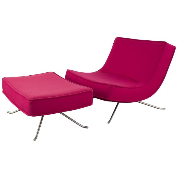 Creative Ligne Roste Pop Easy Lounge Chair And Ottoman By Medium