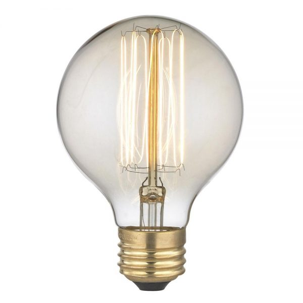 Creative Nostalgic Edison Carbon Filament G25 Globe Light Bulb 60 Medium