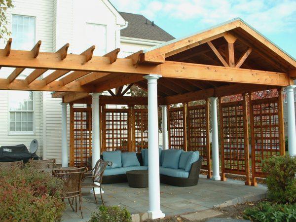 Creative Outdoors Pergola Roof Cover Covered Pergola Medium