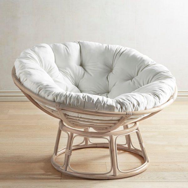 Creative Papasan Whitewash Chair Framepier 1 Imports Medium