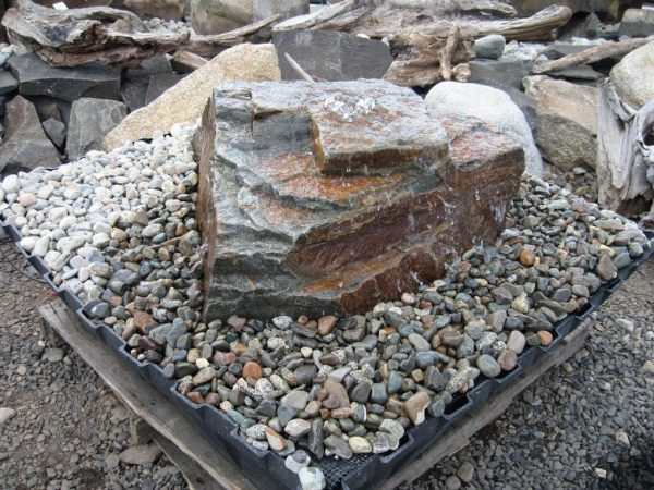 Creative Pondless Water Fountain From Bedrock Landscape Supply In Medium