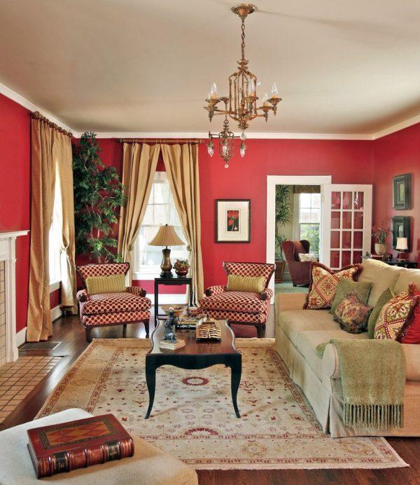 Creative Red Living Rooms Design Ideas Decorations Photos Medium