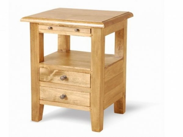 Creative Small Bed Side Table Narrow Bedside Table With Storage Medium