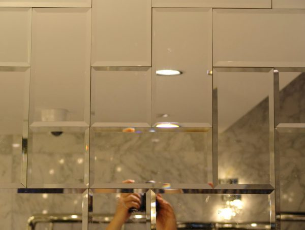 Creative Small Beveled Mirror Tileshome Design Ideas Medium