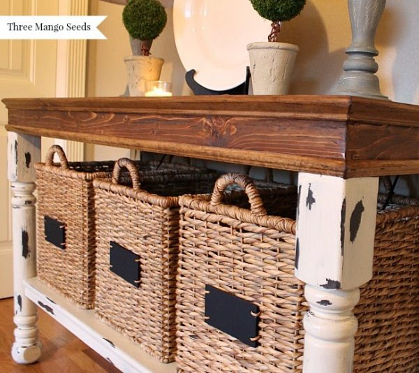 Creative Three Mango Seeds Laundry Room Folding Table Medium