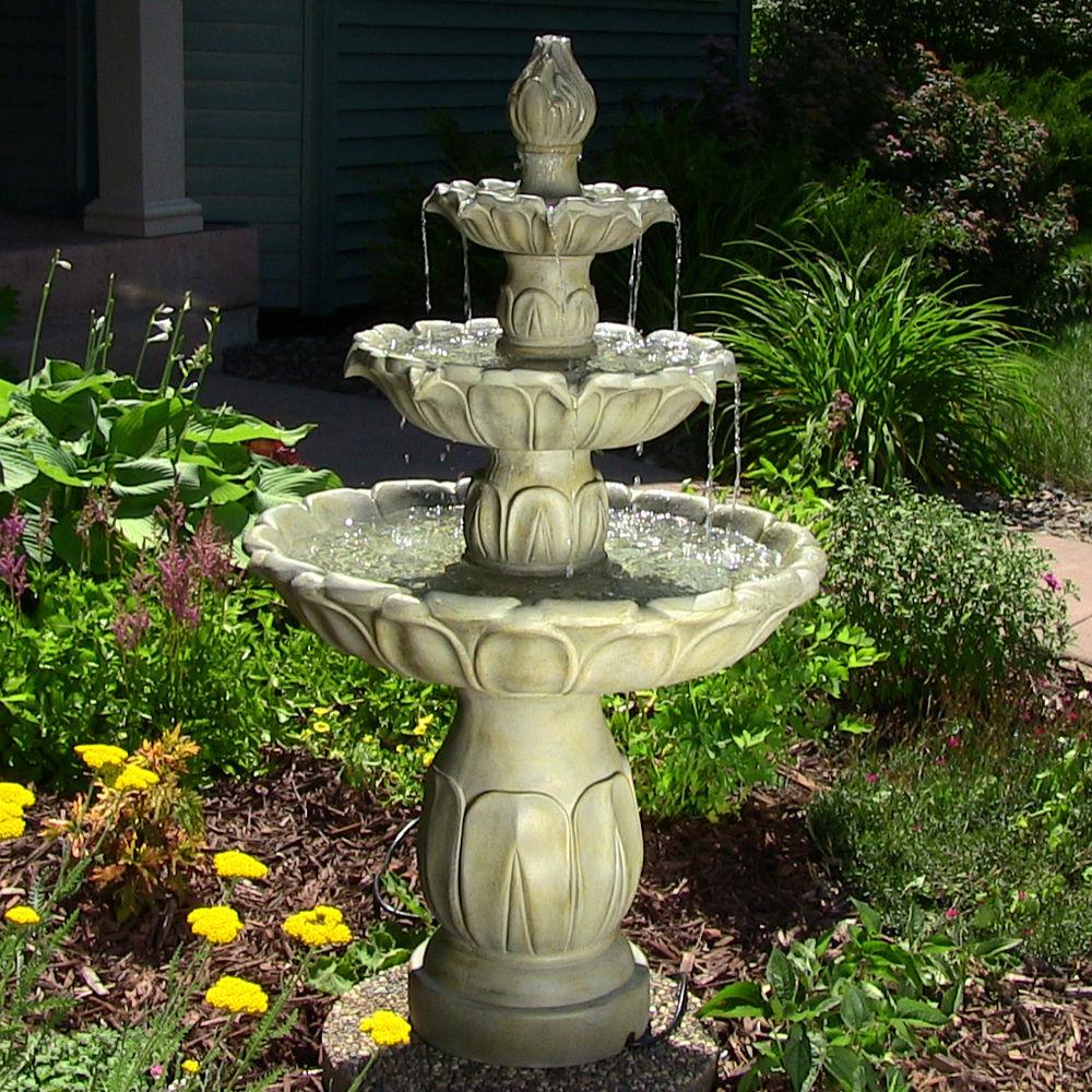 creative three piece roman vase fountain water feature garden