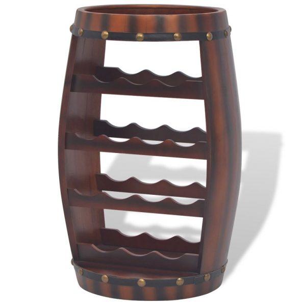 Creative Vidaxl Wine Rack Storage Holder Floor Standing Barrel Medium