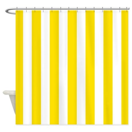 Creative Yellow And White Stripe Shower Curtain By Inspirationzstore Medium