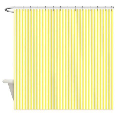 Creative Yellow Stripes Shower Curtainsyellow Stripes Fabric Medium