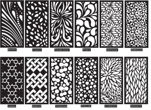 decorative screening panels for garden medium