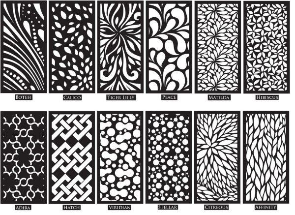 decorative screening panels for garden medium