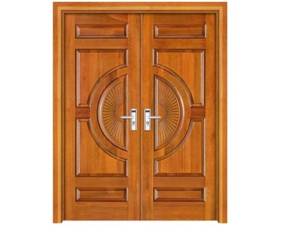 Double Hand Sun Design Hand Carving Main Door Design Medium