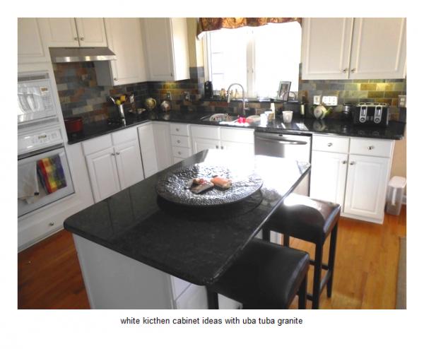 Example Of A 17 White Kitchen Cabinet Ideas With Uba Tuba Granite Medium