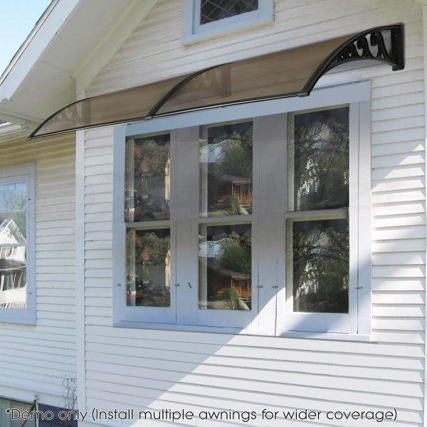 Example Of A 1m X 2m Diy Window Door Awning Canopy Patio Uv Rain Medium