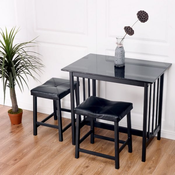 Example Of A 3 Pcs Modern Counter Height Dining Set Table And 2 Chairs Medium