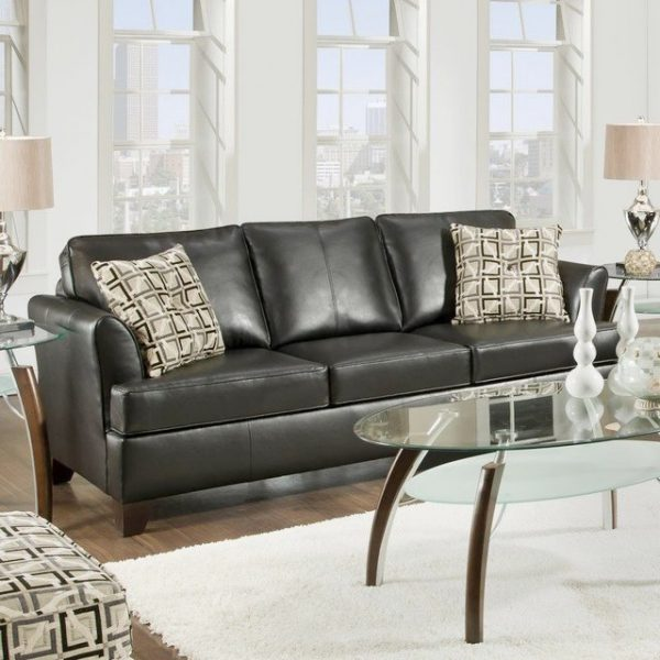 Example Of A Accent Pillows For Leather Sofamodern Style Home Design Medium