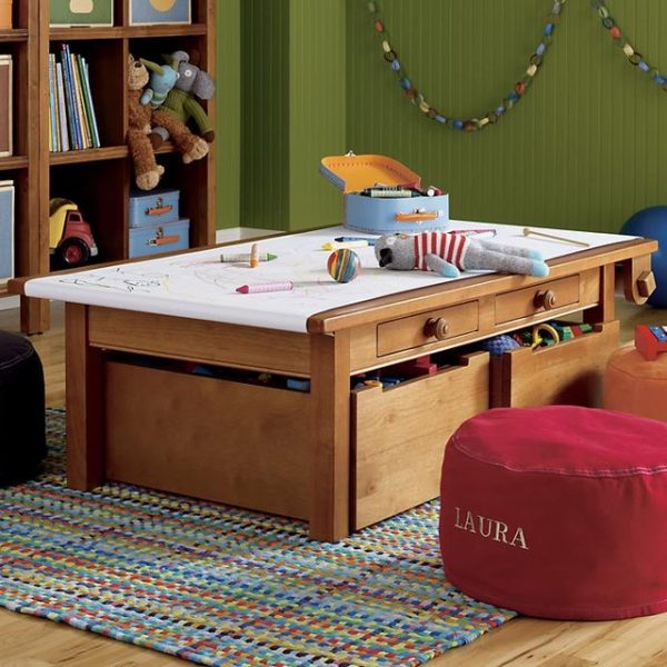 Example Of A Activity Table Complete Set Light Honey Contemporary Medium