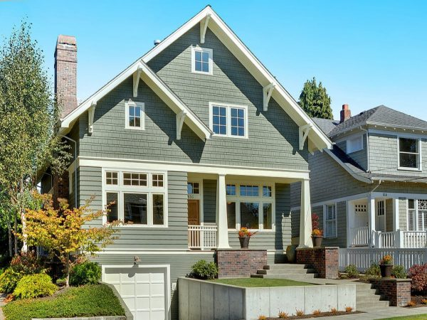 Example Of A Craftsman Style Exterior Colors Exterior House Colors For Medium