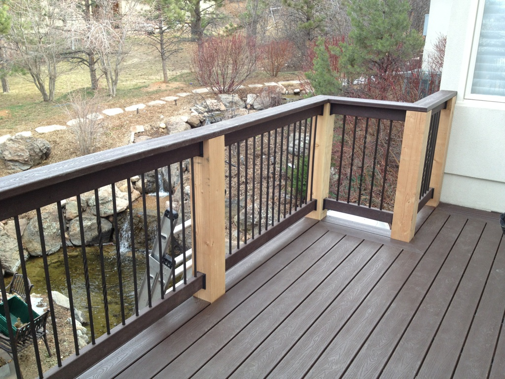 example of a custom decks and railings