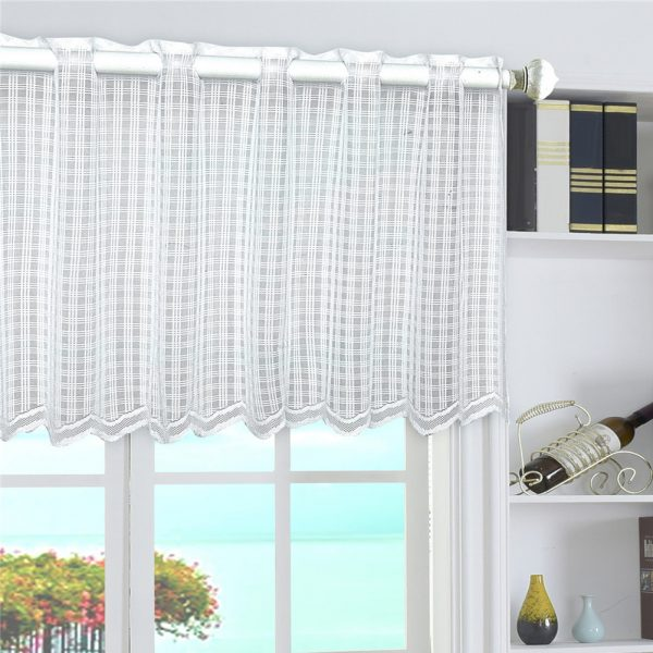 Example Of A Elegant Floral Kitchen Curtains Valance Short Sheer Window Medium