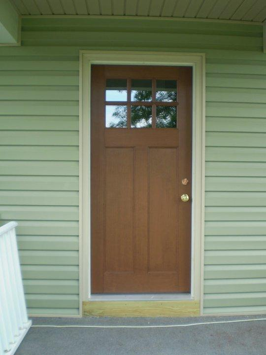 example of a fiberglass door