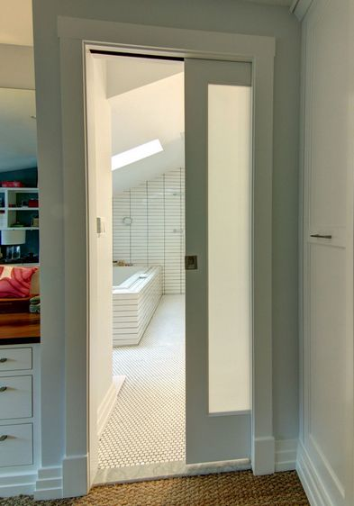Example Of A Frosted Glass Pocket Doors For Your Houseseeur Medium
