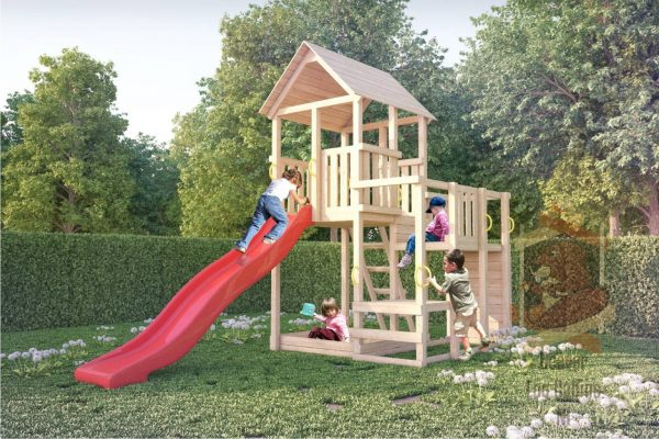 Example Of A Garden Wooden Playhouse For Kids Medium