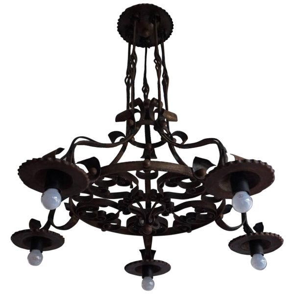 Example Of A Good Size And Handforged Arts And Crafts Wrought Iron Medium