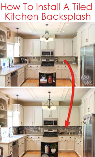 Example Of A How To Tile A Kitchen Backsplash Using Pencil Tile A Medium