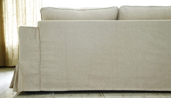 Example Of A Ikea Manstad Loose Fit Linen Slipcovers Modern Sofas Medium