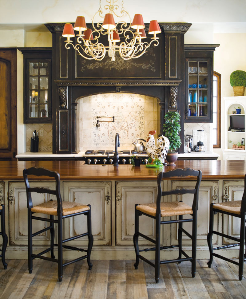 Example Of A Kitchen Cabinetry Habersham Homelifestyle ...