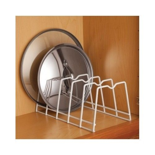 example of a kitchen lid rack organize plates lids pan storage bakeware medium