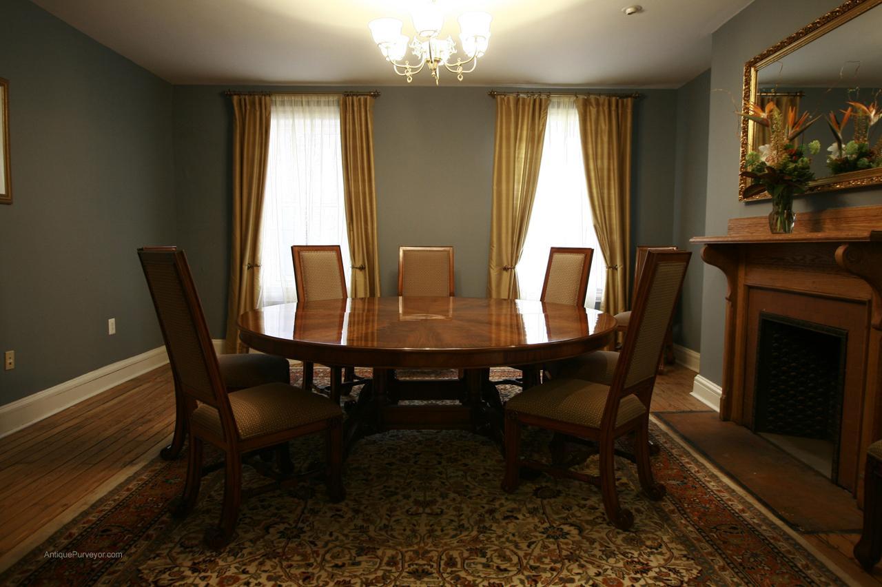 example of a large oversized round dining table large round mahogany