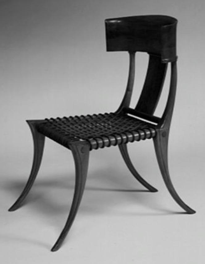 example of a modern klismos chair home design