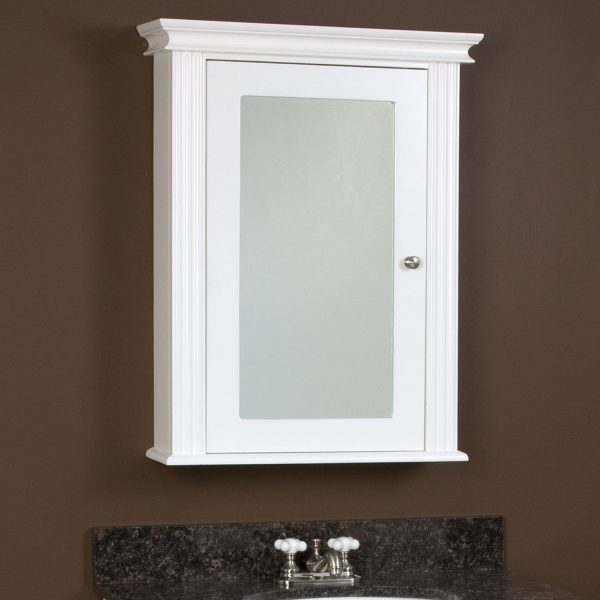Example Of A New Narrow Mirrored Bathroom Cabinet Dkbzawebcom Medium