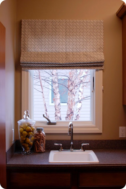 Example Of A Outside Mount Roman Shades 2017 Grasscloth Wallpaper Medium
