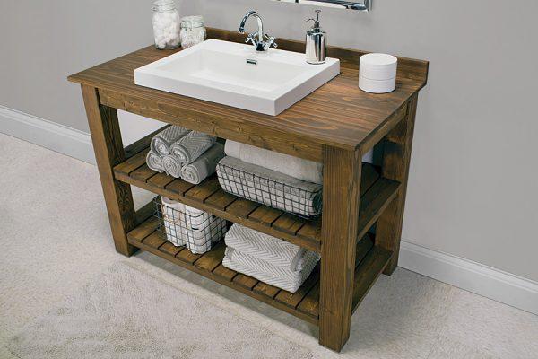 Example Of A Rustic Bathroom Vanity Buildsomethingcom Medium