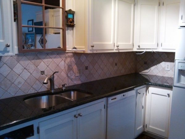 Example Of A Uba Tuba Granite Goes Great With White Cabinets Medium