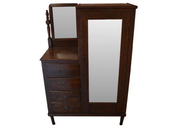 Example Of A Vintage Chifferobe With Vanity Mirrorebth Medium
