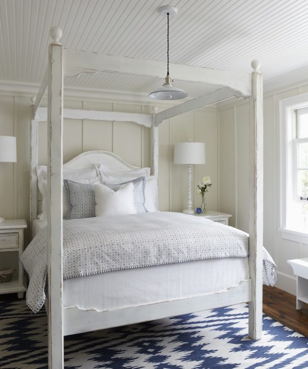 Example Of A White Canopy Bed Cottage Bedroom Muskoka Living Medium