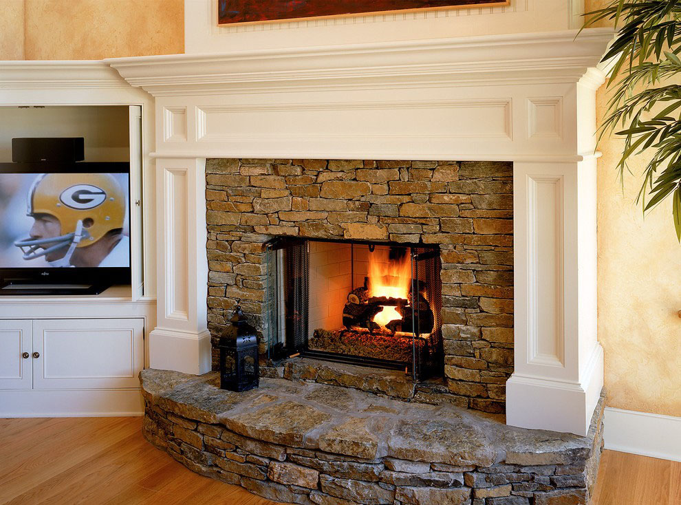 example of a wood burning fireplace design