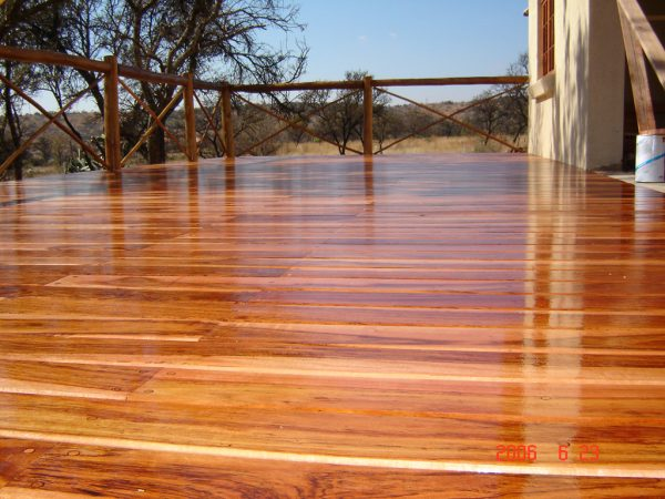 Example Of A Wood Patio Decking Buildipedia Medium