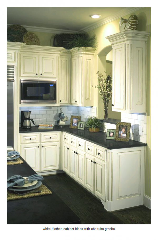 Explore 17 White Kitchen Cabinet Ideas With Uba Tuba Granite Medium
