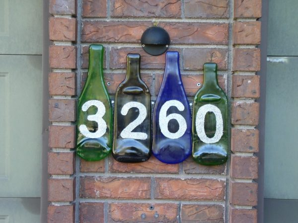 Explore Fused Wine Bottle House Numbers  Glass With A Past Medium