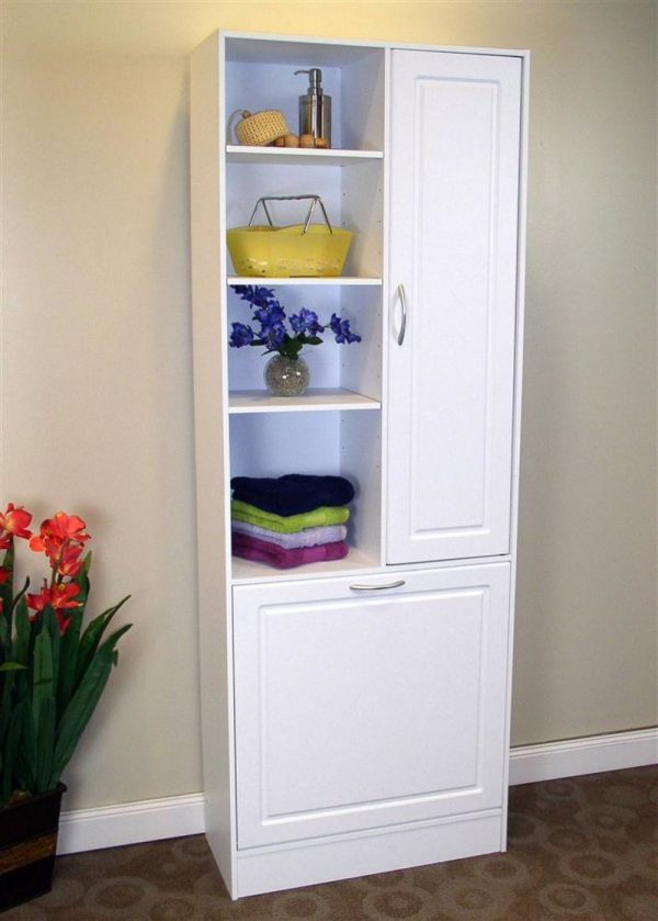 Explore Linen Cabinet With Hamper  Roselawnlutheran Medium